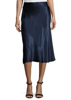 Vince Satin Flare Midi Skirt