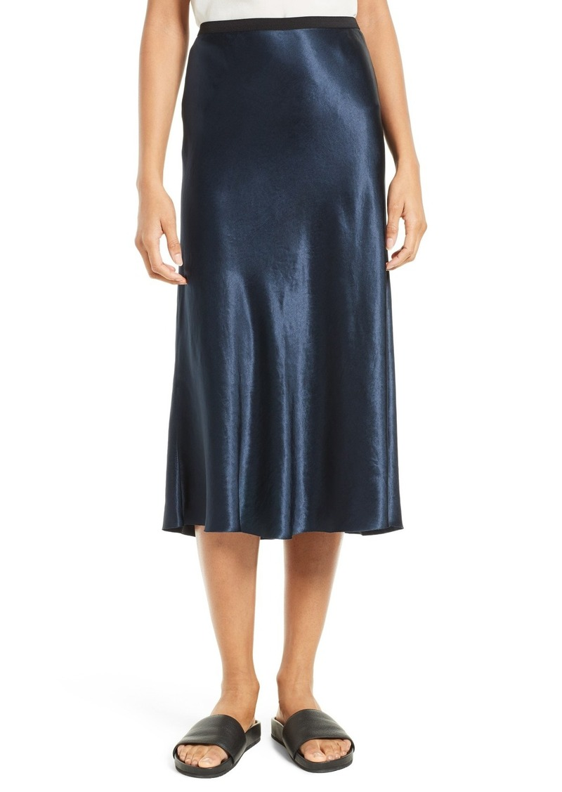 vince vince satin midi skirt skirts shop it to me