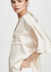 Vince Satin Pajama Shirt