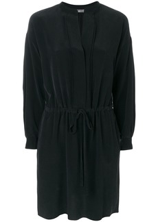 Vince satin shirt dress - Black