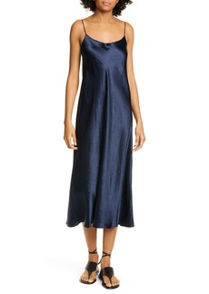 Vince Satin Midi Slipdress