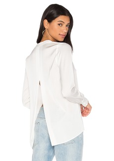 Vince Satin Slit Back Blouse
