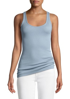 Vince Scoop-Neck Pima/Modal Tank Top