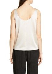 Vince Scoop Neck Silk Satin Tank