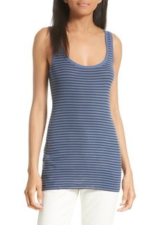 Vince Scoop Neck Stripe Tank
