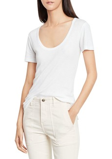 Vince Scoop-V-Neck Short-Sleeve Tee