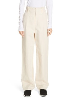 Vince Seam Front Cotton Linen Wide Leg Pants