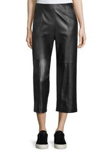 Vince Seam-Trim Leather Culottes