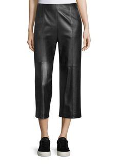 Vince Seam-Trim Leather Culottes