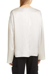 Vince Seamed Front Silk Blouse