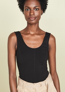 Vince Seamed Scoop Neck Bodysuit