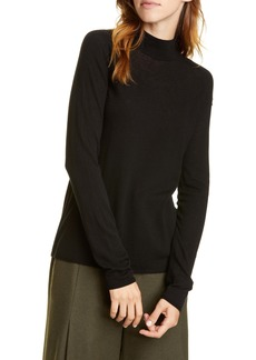 Vince Seamless Wool Blend Mock Neck Top