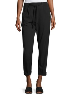Vince Self-Tie Side Strap Cropped jogger Pants