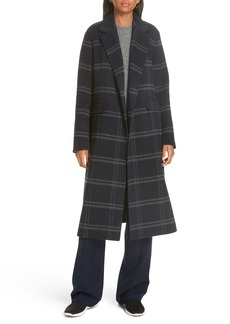 Vince Shadow Plaid Coat