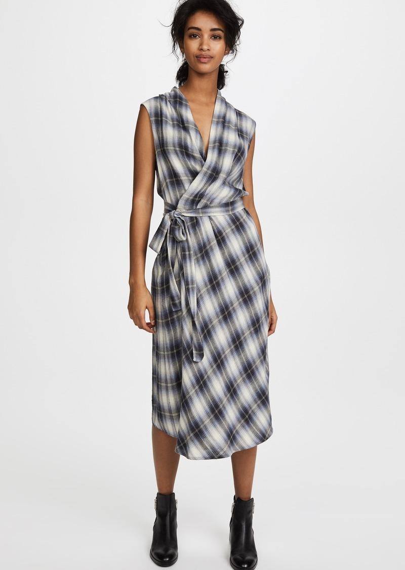 d4781b7aacaba7 Vince Vince Shadow Plaid Sleeveless Wrap Dress | Dresses
