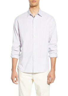 Vince Shadow Stripe Slim Fit Sport Shirt