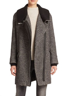 Vince Shawl Collar Asymmetric Coat