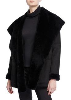 Vince Shearling Cardigan Coat