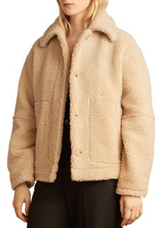 Vince Sherpa Faux Fur Jacket