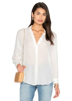 Vince Shirred Back Yoke Blouse