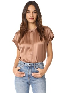 Vince Shirred Neck Blouse