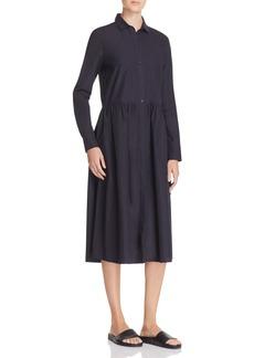 Vince Shirred Shirt Dress