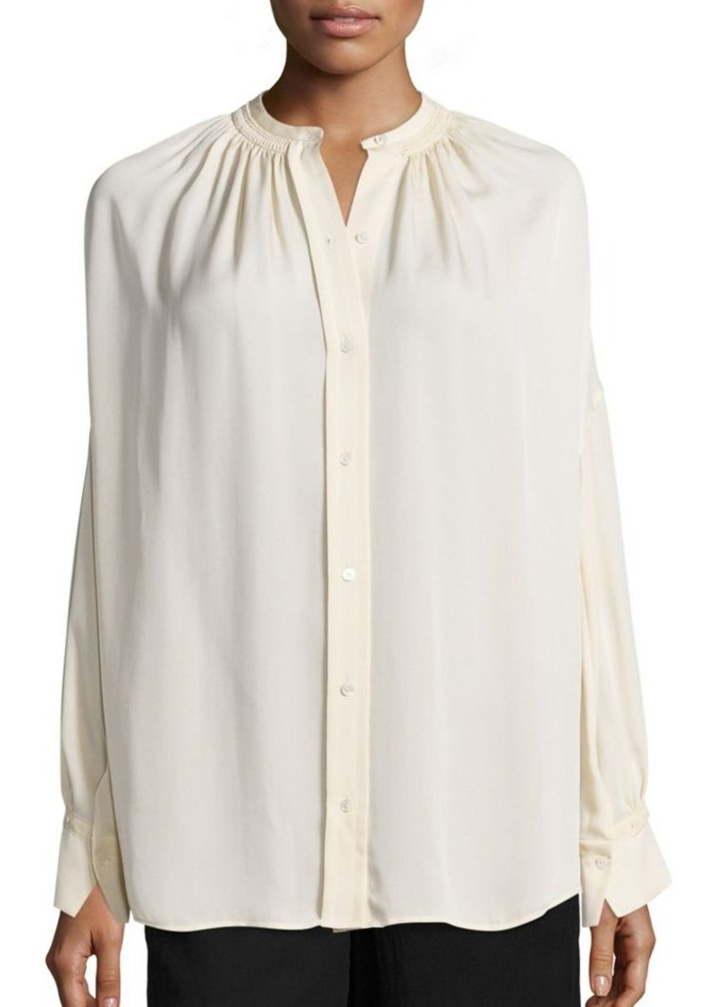 4fca9e4dfac520 On Sale today! Vince Vince Shirred Silk Blouse