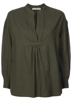 Vince shirred V-neck blouse - Green
