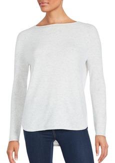 Vince Shirttail Hem Wool & Cashmere Pullover