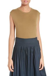 Vince Shirttail Pima Cotton Tank