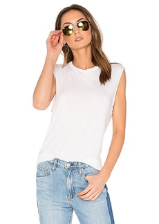 Vince Shirttail Tank in White. - size L (also in XS,M)