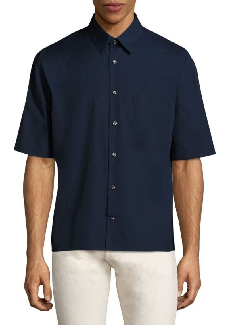 Vince Short Sleeve Boxy-Fit Shirt
