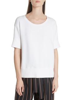 Vince Short Sleeve Crop Sweatshirt