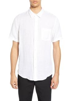 Vince Short Sleeve Slim Fit Linen Sport Shirt