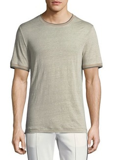 Vince Short-Sleeve Ribbed Sweater