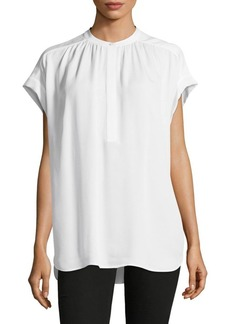 Vince Short-Sleeve Silk Blouse