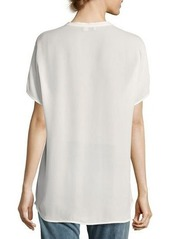 Vince Short-Sleeve Silk Popover Top