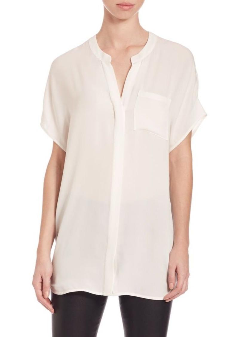 Vince Short Sleeve Silk Tunic