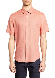 Vince Short Sleeve Slim Fit Linen Sport Shirt