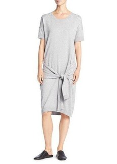 Vince Short Sleeve Tie-Waist Sweater Dress