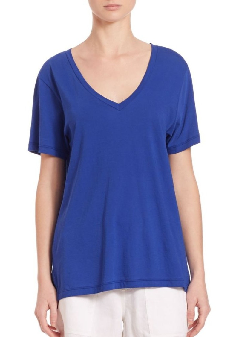 Vince Short Sleeve V-Neck Top