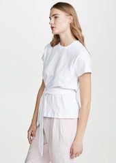 Vince Short Sleeve Wrap Tee