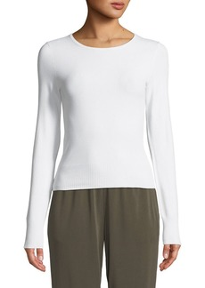 Vince Shrunken Long-Sleeve Crewneck Top