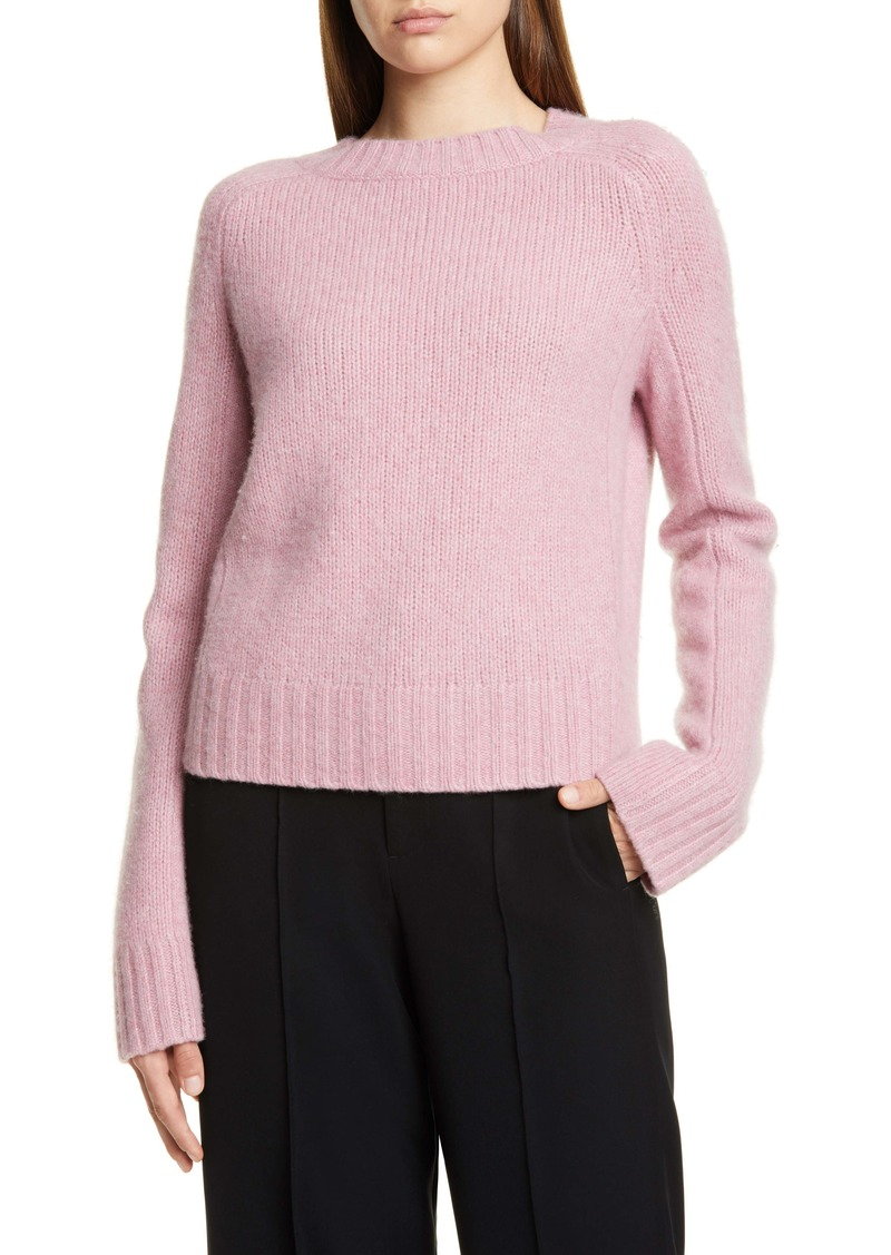 Vince Shrunken Mock Neck Cashmere Sweater