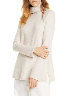 Vince Side Slit Cashmere Turtleneck Sweater