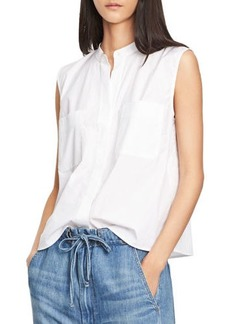 Vince Side-Slit Cropped Shell Top