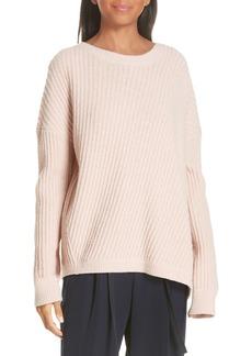 Vince Side Slit Ribbed Sweater
