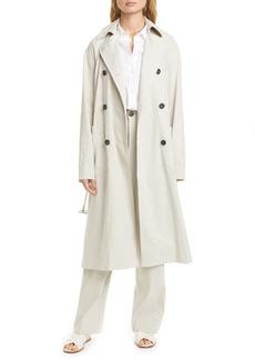 Vince Side Slit Trench Coat