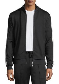 Vince Side-Striped Zip-Front Jacket