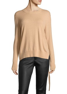 Vince Side-Tie Crewneck Cashmere Sweater